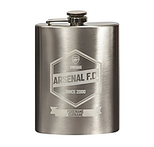 Arsenal Personalised Retro Hip Flask