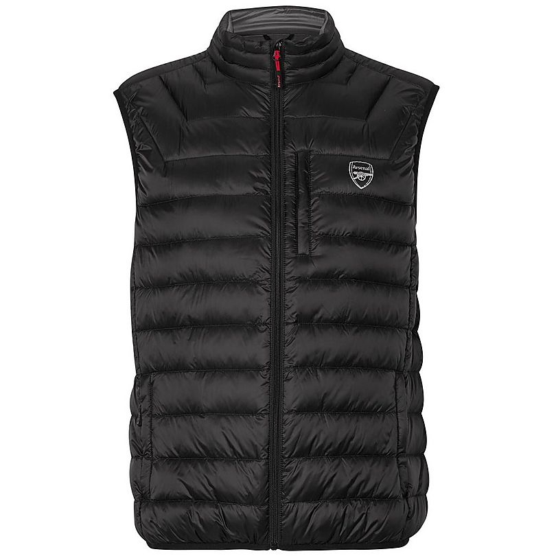 a43ea5887ef Arsenal Black Feather and Down Gilet | Official Online Store