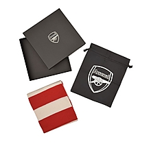 Arsenal Cashmere Bar Scarf with Gift Box