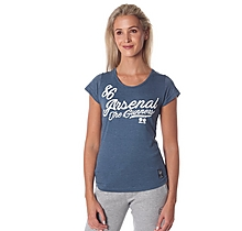 Arsenal Womens Script Print Denim Marl T-Shirt