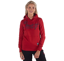 Arsenal Womens Script Print Red Hoody