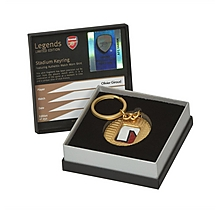 Arsenal Giroud Match Worn Shirt Stadium Keyring