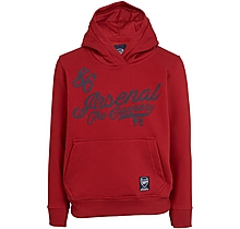 Arsenal Girls Script Print Red Hoody (4-13yrs)