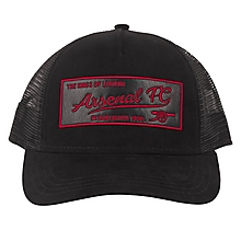 Arsenal Suede Faux Leather Trucker Cap