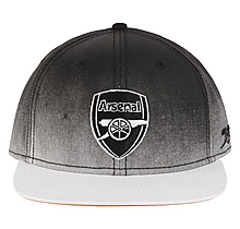 Arsenal Black & White Fade Snapback