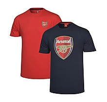Arsenal 2pk Crest T-Shirts