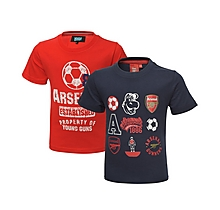 Arsenal Kids 2 Pack Graphic T-Shirts (2-7yrs)
