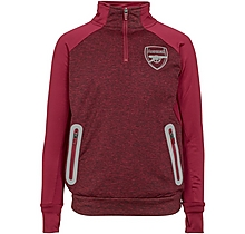 Arsenal Kids Leisure Marl 1/4 Zip Top (4-13yrs)