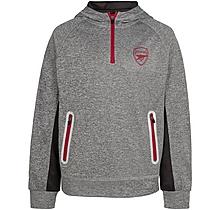 Arsenal Kids Leisure 1/4 Zip Hoody (4-13yrs)