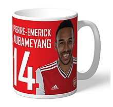 Arsenal Personalised Aubameyang Autograph Mug