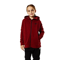 Arsenal Kids Leisure Red Marl Zip Hoody (4-13yrs)
