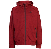 Arsenal Kids Leisure Red Marl Zip Hoody