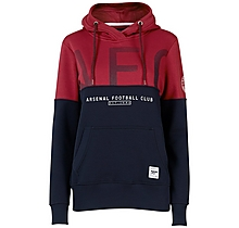 Arsenal Womens Since 1886 Contrast Panel Hoody