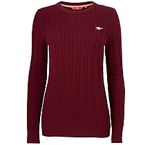 Arsenal Womens Cable Knit Jumper