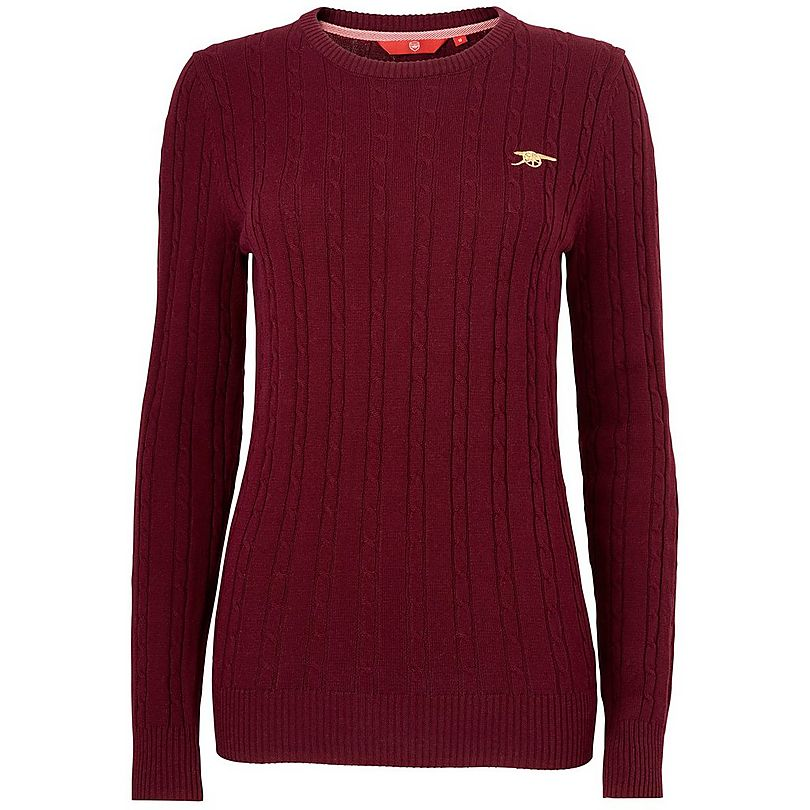 ff3db769d12 Arsenal Womens Cable Knit Jumper