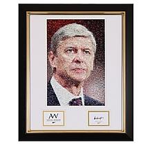 Arsene Wenger Signed Mosaic Print