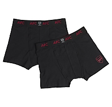 Arsenal Essentials 2 Pack Jersey Boxer Shorts