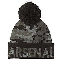 Arsenal Black Camo Bobble Hat