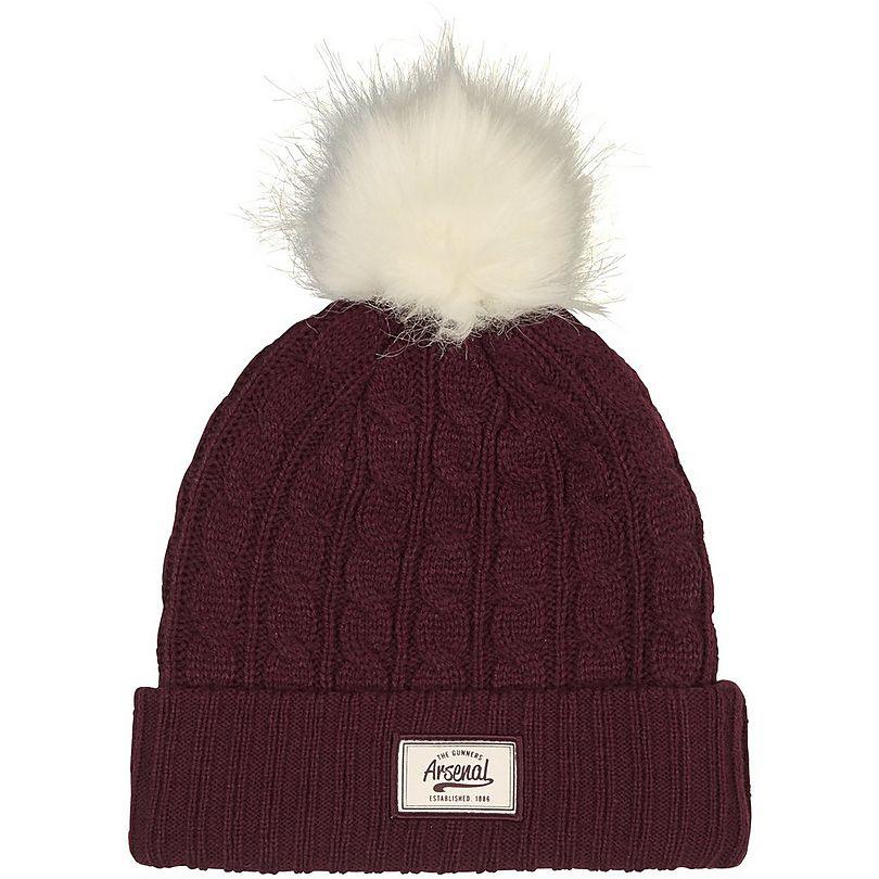 Arsenal Burgundy Bobble Hat  09298ac54b5