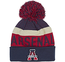 Arsenal Text Cuff Pompom Beanie