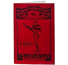 Arsenal Champion Fathers Day Card
