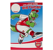 Arsenal Gunnersaurus Birthday card