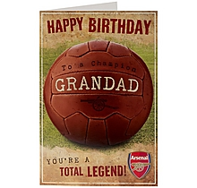 Arsenal Total Legend Grandad Birthday Card