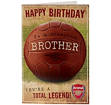 Arsenal Total Legend Brother Birthday Card