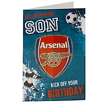 Arsenal Amazing Son Birthday Card