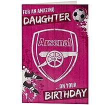 Arsenal Amazing Daughter Birthday Card