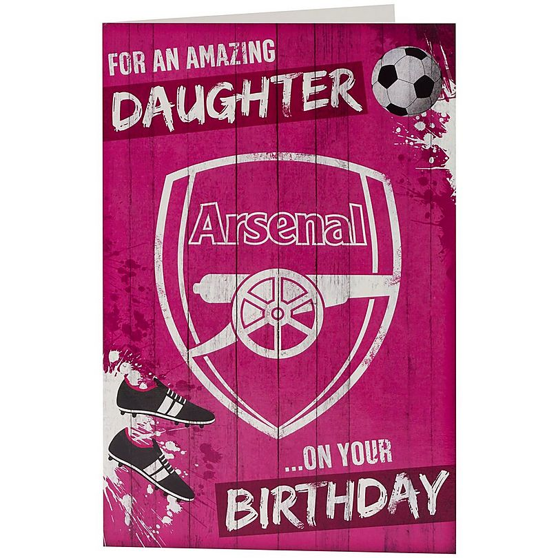 Arsenal Amazing Daughter Birthday Card