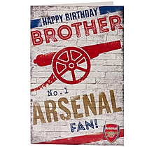 Arsenal Happy Birthday Brother Card
