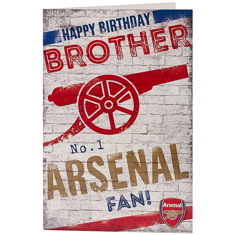 Arsenal Happy Birthday Brother Card Official Online Store