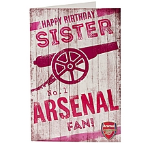 Arsenal Happy Birthday Sister Card