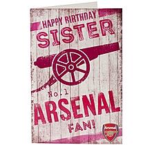 Arsenal Happy Birthday Sister Card