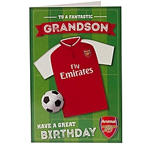 Arsenal Fantastic Grandson Birthday Card