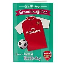 Arsenal Wonderful Granddaughter Birthday Card