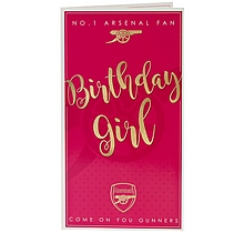Arsenal Birthday Girl Card