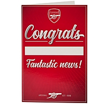 Arsenal Congratulations Card