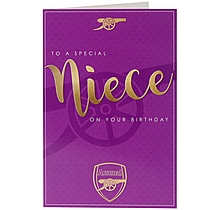 Arsenal Niece Card