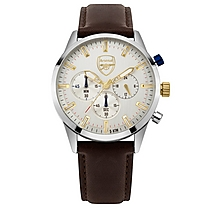 Arsenal Chronograph Brown Leather Watch