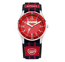 Arsenal Kids Navy Nylon Strap Red Dial Watch