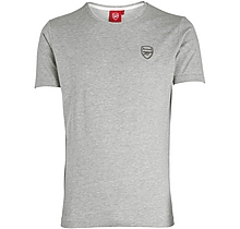 Arsenal Essentials Crew T-Shirt Grey