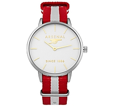 Arsenal Burgundy Stripe Dial Watch