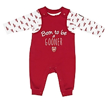 Arsenal Baby 2pc Dungaree T-Shirt Set
