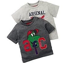 Arsenal Baby 2PK Gunnersarus T-Shirt Set