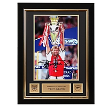 Arsenal Tony Adams Framed Signed Photo Premiership Trophy