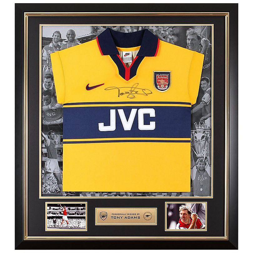 detailing 3375e 27be6 Tony Adams Framed Signed 97/98 Away Shirt | Official Online ...