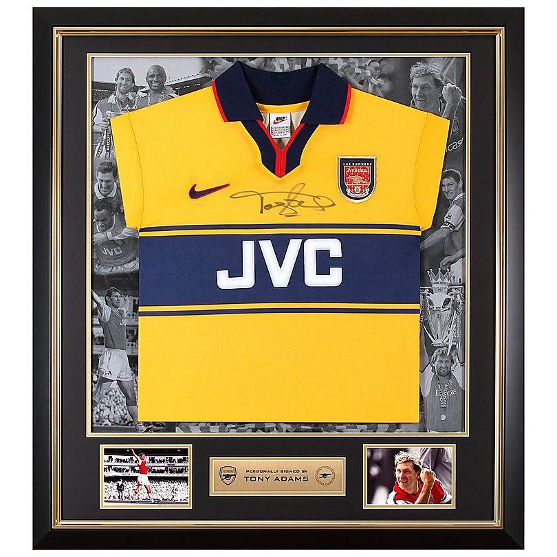 detailing fe6b0 cd187 Tony Adams Framed Signed 97/98 Away Shirt | Official Online ...