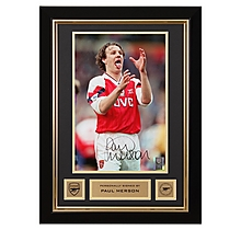 Arsenal Paul Merson Framed Signed Photo Celebration